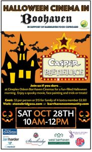 Halloween Cinemas in Boohaven! @ Cineplex Odeon Barrhaven | Ottawa | Ontario | Canada