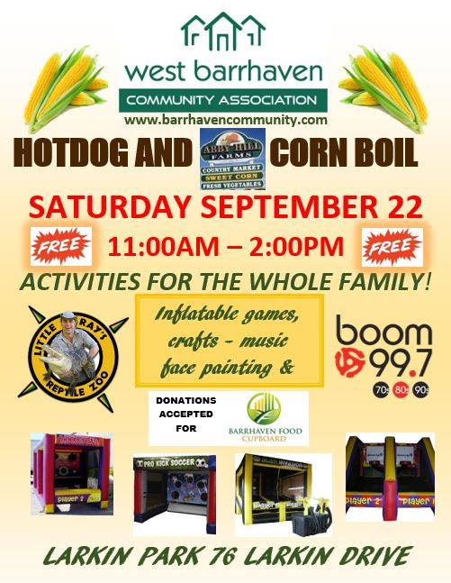 Annual Corn Boil and Hot Dog Roast Fun Day @ Larkin Park | Ottawa | Ontario | Canada